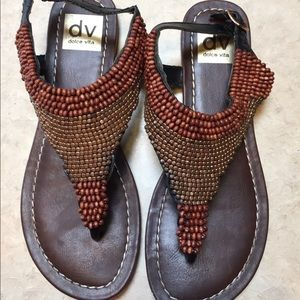 Dolce Vita Size 6.5 Beaded Sandals